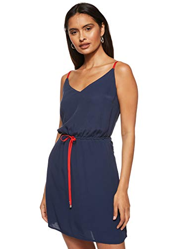 Tommy Jeans Mujer Tjw Essential Strap Dress Vestido Not Applicable, Azul (Twilight Navy C87), 34 (Talla del Fabricante: X-Small)