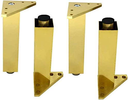 JXXDDQ Pies de Apoyo de Muebles y el Tiempo;4, Ajustable de Aluminio de aleación de Hogares Sofá Pies Gabinete, Papel Grueso