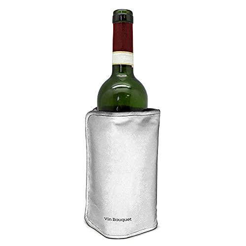 Vin Bouquet Funda Enfriadora Autojustable, Color Plata, 18.5 x 16 x 2 cm