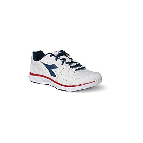 Scarpe Sneaker Uomo / Donna DIADORA Modello HAWK 8 Vari Colori e Taglie ( Super White / Classic Navy - 42)