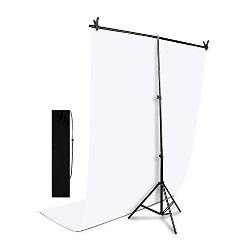 Fondo verde Telón de Fondo de Pantalla Blanca 5.2x10 Pies En Forma de T Ajustable Kit de Sistema de Apoyo de Fondo Sin Costuras y Telón de Fondo de Muselina Chromakey para Photo Studio Video