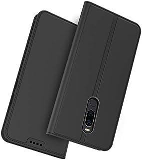 Meizu X8 フリップ カバー, シェル, MeetJP フリップ カード スロット [立つ フィーチャー] レザー 財布 シェル ヴィンテージブック スタイル 磁気 保護 カバー ホルダー の Meizu X8 - Black