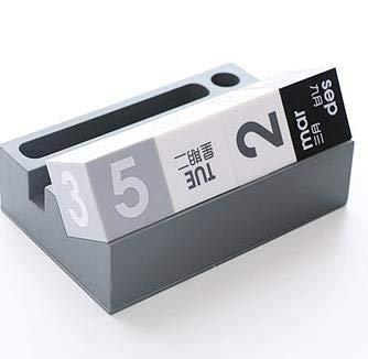 VVAN Calendario de sobremesa 2021 Creativo Cubo Forma Calendario perpetuo de teléfono Titular de la Pluma de múltiples Funciones del Calendario de Escritorio papelería Flip Calendar (Color : 1)