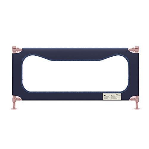 Barrières de lit LHA Déflecteur Vertical de lit d'enfant de Garde-Corps de Garde-Corps de lit (Couleur : Bleu, Taille : L-180cm)