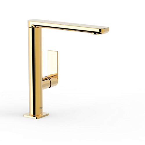 Monomando lavabo Loft Colors con caño de 35x15 milímetros con giro 360 grados, maneta, 18 x 10 x 23,5 centímetros, color oro (Referencia: 20020502OR)