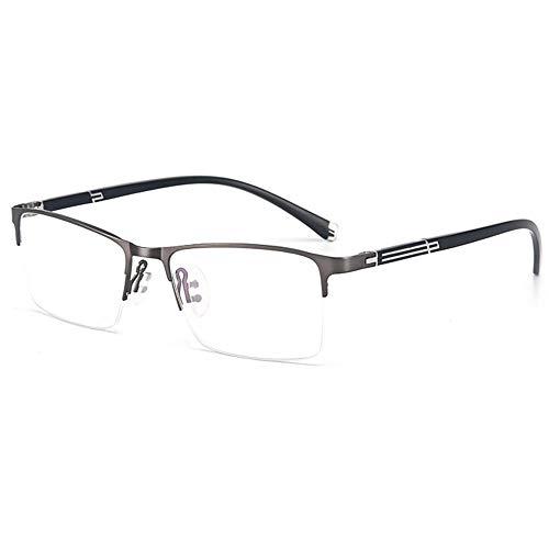 CAOXN Gafas Bifocales Anti-Luz Azul, Resina De Fatiga Antirradiación Ultraligera De Alta Definición Masculina Y Lente De Dioptría 1.00~3.00,Gris,+2.50