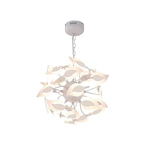 Lámpara colgante creativa nórdica, Lámpara de diseño de lámparas de acrílico blanco cremoso personalizado, lámparas de colgante decorativas LED para sala de estar, hotel, cafetería, oficina, restauran