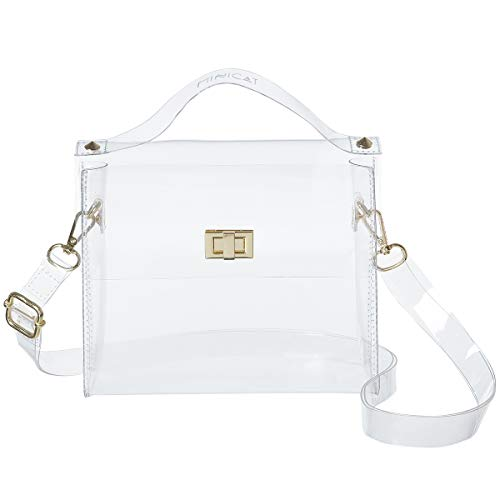 MINICAT Clear Small Crossbody Bags Stadium Approved Cell Phone Purse Wallet For Women(Clear-Horizontal)