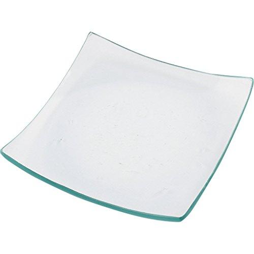 Lot de 12 coupelles en verre carrées 11,5 x 11,5 cm