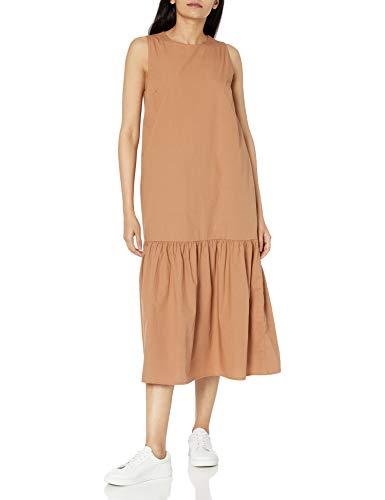 Marque Amazon - Ilana Robe Longue pour Femme, en Popeline, Coupe Ample, sans Manches, Ourlet Large par The Drop