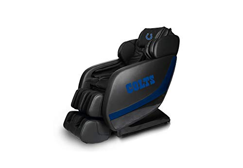 Buy Discount NFL Electric Full Body Shiatsu Massage Chair Foot Roller Zero Gravity Wheat (Indianapol...