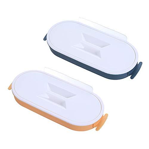 Y-H - Soporte para bolsas de basura para cocina, 4 litros, color amarillo y azul