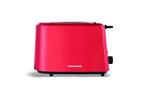 Grundig TA 4620 R Toaster Rot, 850 W, 7 Bräununggradeinstellung,