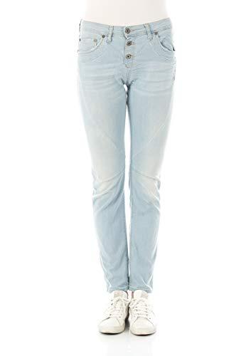Please Damen Jeans P15I - LAV1607 - Straight Fit - Blau - Light Blue Denim XXS XS S M L XL 97% Baumwolle Stretchjeans Damenjeans, Größe:S, Farbvariante:Light Blue Denim (021)