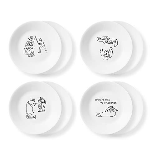 Corelle Disney Star Wars Doodles 6.75' Appetizer Plates, 8 Pack