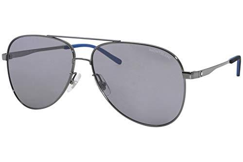 Mont Blanc MB-0103-S 002 ruthenium - Gafas de sol, color gris y plateado