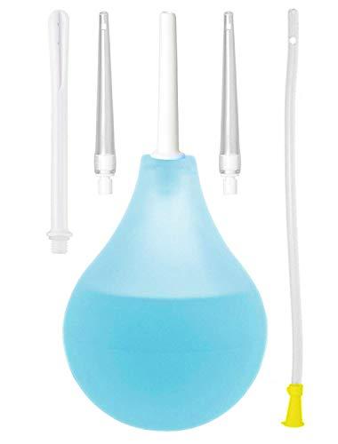 Dr. Wunder® Premium Klistier-Set 225ml: vielseitiges Einlauf-Set inkl. 4 Einlaufspitzen puls 1x Damrohr (40cm) |hygienische Darmreinigung mit Wasser, Kaffee oder Tee |BPA-frei