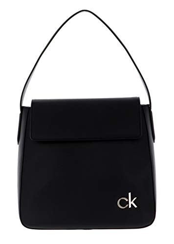 Calvin Klein, HOBO W/FLAP Donna, Nero, 28 Inches, Extra-Large