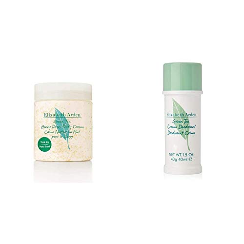 Elizabeth Arden Green Tea Honey Drops Body Cream, 1er Pack (1 x 500 ml) & Green Tea Deodorant Creme, 1er Pack (1 x 40 ml)