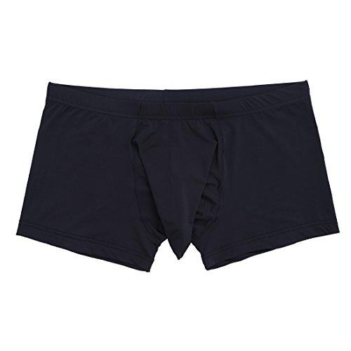 iEFiEL Herren Boxer Boxershort Unterhose Männer Unterwäsche Slip Basic Boxer Pants mit Penishülle M L XL XXL Schwarz XL