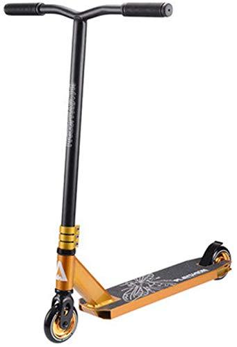 XLYYHZ Kick Scooters, Ligero Scooter - Stunt Trick Freestyle Scooter f u r Adultos y Adolescentes con Adultos Pesadas 220 Libras de la Carga máxima, de Oro