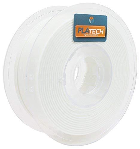 FFFworld 250 g PLA Tech 1.75 mm - Filamento PLA 1.75 con bobina di precisione Optiroll - Filamento bianco