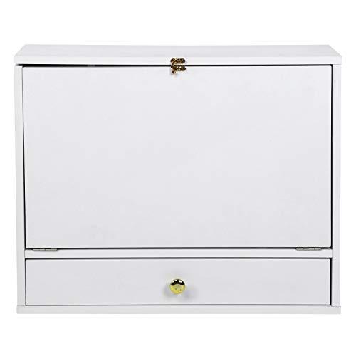 Emoshayoga Table décriture Bureau dordinateur Bureau de Bureau Pliable en MDF 23,6 x 19,7 x 5,9 Pouces pour Le Bureau de la Salle de Lecture