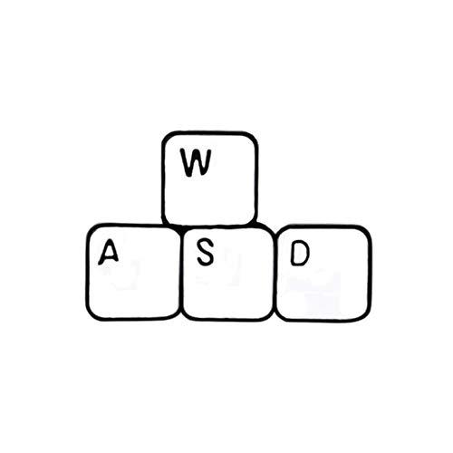Lustige Brosche Wasd Tastaturspiele Emaille Pin Shirt Denim Abzeichen Anstecknadeln Jacken Tasche Computer Arbeiter Geschenke Zubehör Schmuck, Tastatur, China