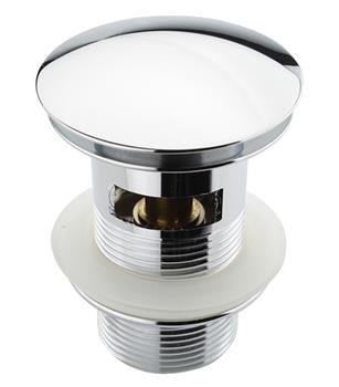 Bonde de lavabo clic-clac avec trop plein Atco® PU17- Chromée