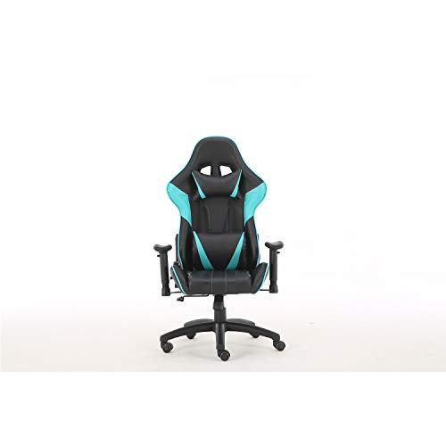 Gaming Chair Office Chair Ergonomic Reclining Padded armrests Height Adjustable with Headrest and Lumbar Pillow E-Sports Chair (Blue) blue chair gaming