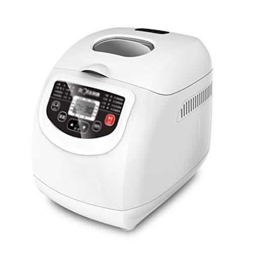Panificadora Pan al vapor de la máquina automática de Hogares de pequeña escala fermentación de la masa inteligente de pan al vapor multifunción desayuno Máquina (color: blanco) Robot de cocina con Ki