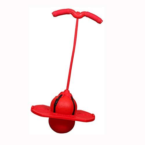Pogo Stick Pogo Jumper für Kinder Erwachsene,Hüpfbälle Pogo Springstöcke Bouncing Ball mit Griffen und Pumpe,Für Jungen Und Mädchen Über 3 Jahre (Color : Red)