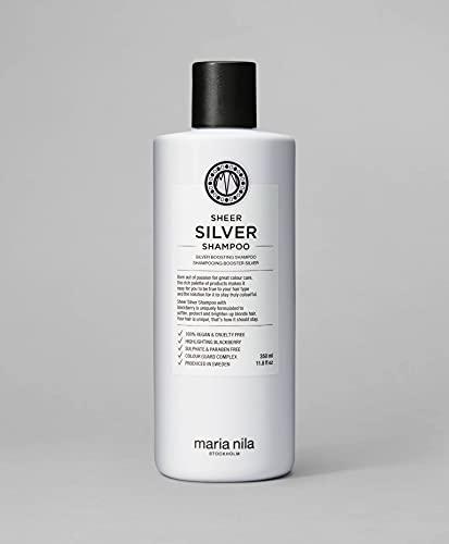 Maria Nila Care & Style - Sheer Silver Shampoo 350ml   Silber Shampoo mit violetten Pigmenten