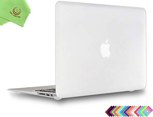 UESWILL Smooth Touch Matte Hard Shell Case Cover for MacBook Air 11 inch (Model A1370/A1465) + Microfibre Cleaning Cloth, Clear