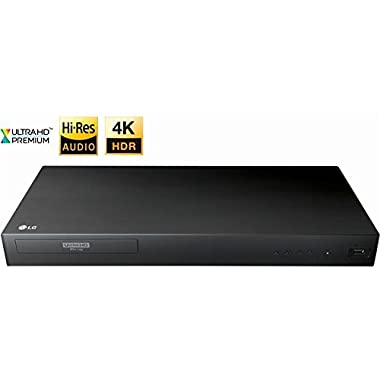 Newest LG UP870 4K 3D Ultra HD Blu-ray Player with Remote Control, HDR Compatibility, Upconvert DVDs, Ethernet, HDMI, USB Port, Black
