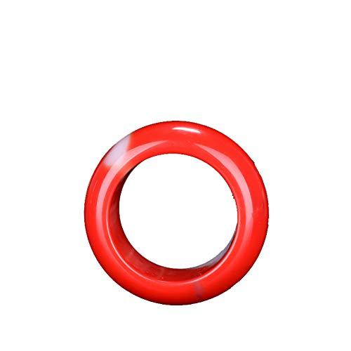 Chino Rojo Blanco Jade Talla Jadeita Anillo Encanto Joyería Moda Tallado A Mano Hombre Mujer Suerte Regalos Amuleto 8 Rojo