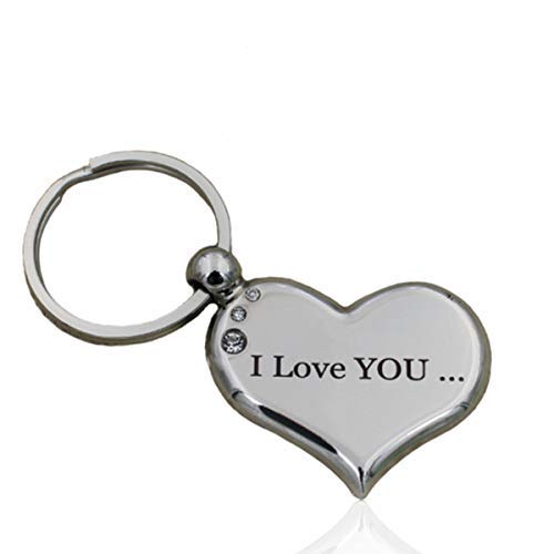 Heart Keychain I Love You To The Moon And Back Best Valentines Day Gift For Her