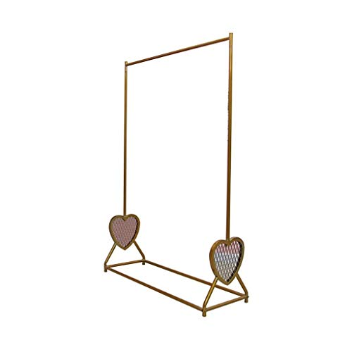 XZGang Dameskleding Kleding Rail, Eenvoud Metal Kleding Display Stand Thuis Kleding Rail Slaapkamer Balkon kledingrek Kledingwinkel (Color : Gold, Size : 170 * 120CM)