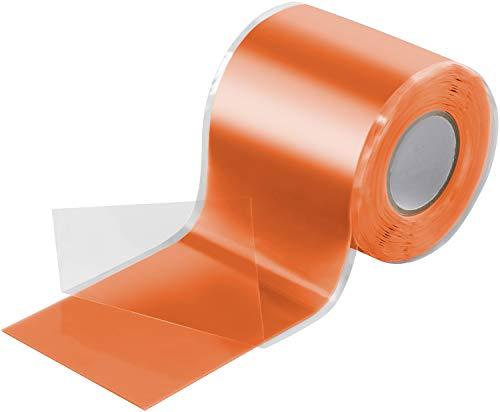 Poppstar 3m selbstverschweißendes Silikonband, Silikon Tape Reparaturband, Isolierband und Dichtungsband (Wasser, Luft), 50mm breit, orange
