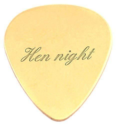 Grabado para despedida 18 K chapado en oro Púas para guitarra/púa ...