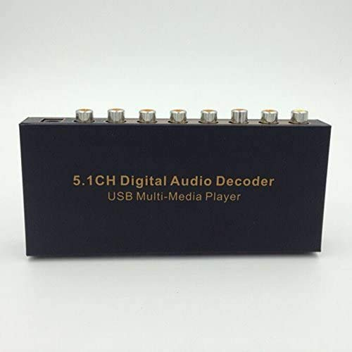 ASKS HDMI Digital Audio to Analog Converter 5.1 Decoder Amplifier Converter DTS and AC3 Digital Audio Decoder with USB Support Blu-ray Player Machines