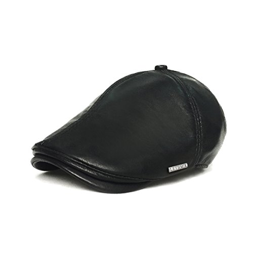 LETHMIK Vintage Flat Hat Ivy Irish Hats Gatsby Newsboy Cap Cabbie Hat Stretch Black