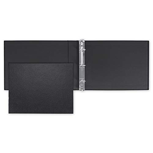 """CheckSimple Business Check 3 Ring Binder for 3 on a Page Side Stub Checks - 11 1/4"""" x 9"""" - Black (1 Binder)"""