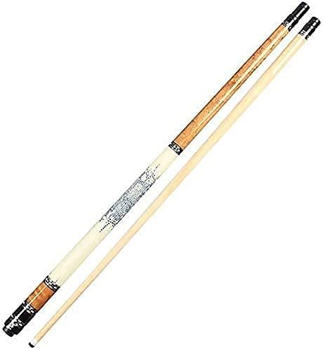 EIERFSKIOT Pool cue Stick Billiard cue Sticks Billiard Pool Cue Stick 58In Maple Pool with 13Mm Tips 1/2 Jointed Billiard Sticks Very Nice Grip Personalised Pool(Color:A;Size:Pole Box)