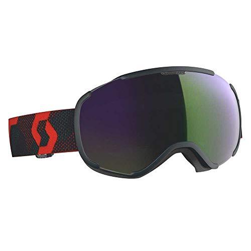 Scott Faze II Goggle Grün-Rot, Skibrille, Größe One Size - Farbe Blue Nights - Red - Enhancer Green Chrome