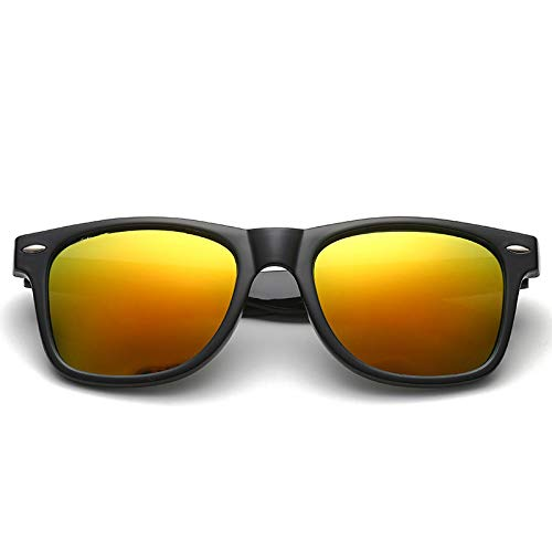 Gafas de Sol Gafas De Sol Clásicas con Luz Polarizada para Hombre, Gafas De SolRedondas DePc Vintage conRevestimiento para Mujer, Gafas Al Aire Libre 5