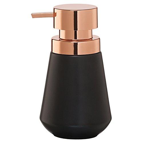 Sealskin Seifenspender Conical, Porzellan, Farbe: Schwarz