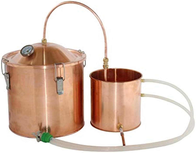 NEW 3gal 10L Water Distiller Copper Pot Moonshine Still Boiler Home Brew Kit
