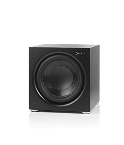Saxx DS 10 - Aktiver Subwoofer, Dauerleistung 150 Watt, Impulsleistung 250 Watt, geschlossener Subwoofer für Minianlagen, HiFi-Anlagen und Heimkino, Frequenzbereich 30 Hz - 270 Hz