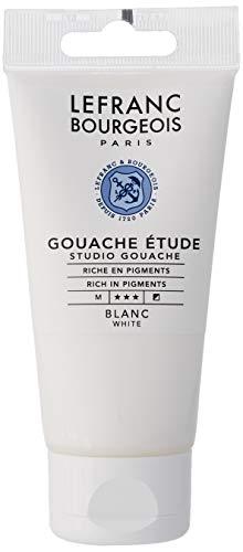 Lefranc Bourgeois Gouache - Tubo de estudio (80 ml), color blanco